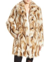 7 For All Mankind | Multicolor 7 For All Mankind Faux Fur Coat | Lyst