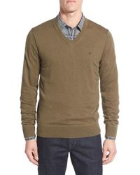 Victorinox | Green Victorinox Swiss Army 'knifesmith' V-neck Sweater for Men | Lyst