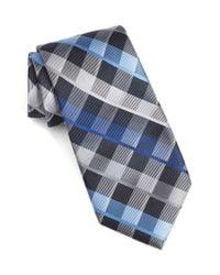 Calibrate - Blue Plaid Silk Tie for Men - Lyst