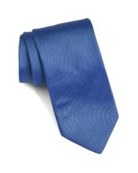 Ted Baker | Blue Solid Woven Silk Tie for Men | Lyst