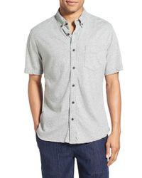 Surfside Supply - Gray Regular Fit Knit Button Down Shirt for Men - Lyst