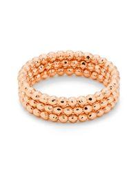 Gorjana | Orange 'marlow' Rings (set Of 3) | Lyst