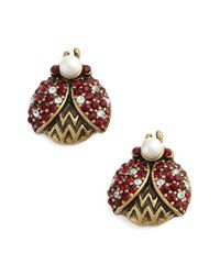 Marc Jacobs - Red Ladybug Stud Earrings - Lyst