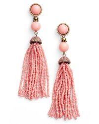 BaubleBar | Pink 'artemis' Beaded Tassel Drop Earrings | Lyst