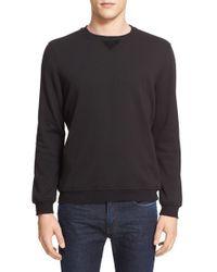 ATM - Black Crewneck Sweatshirt for Men - Lyst