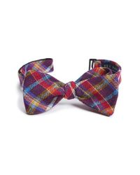 Ted Baker | Purple Plaid Textured Silk Bow Tie for Men | Lyst