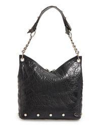 Jimmy Choo - Black Raven Studded Leather Shoulder Bag - Lyst
