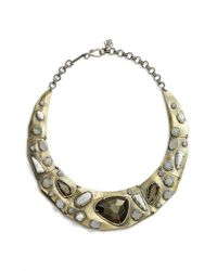 Kendra Scott | Metallic 'mira' Jewel Collar Necklace | Lyst
