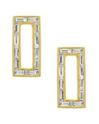 Bony Levy | Metallic Baguette Diamond Rectangle Stud Earrings (nordstrom Exclusive) | Lyst