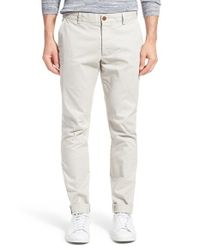 French Connection - Gray Cotton Chinos for Men - Lyst