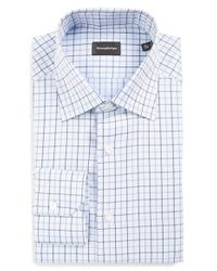 Ermenegildo Zegna | Blue Regular Fit Check Dress Shirt for Men | Lyst