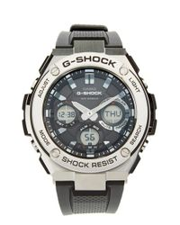 G-Shock | Black G-shock 'g-steel' Ana-digi Resin Strap Watch for Men | Lyst
