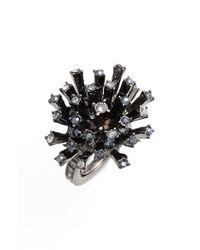 Oscar de la Renta | Black Crystal Firework Ring | Lyst