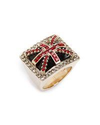 Alexander McQueen | Metallic 'britannia' Ring | Lyst