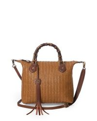 Eric Javits | Brown 'hilsey' Woven Satchel | Lyst