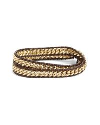 Panacea - Multicolor Curb Chain Wrap Bracelet - Lyst