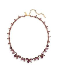 kate spade new york | Metallic Crystal Collar Necklace | Lyst