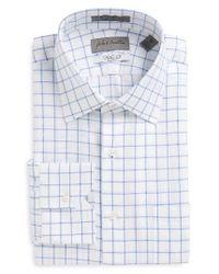 John W. Nordstrom | Blue John W. Nordstrom Traditional Fit Check Dress Shirt for Men | Lyst