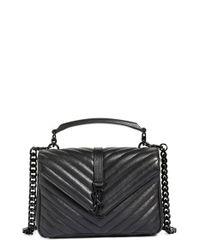 Saint Laurent | Black Medium College Quilted Leather Shoulder Bag | Lyst