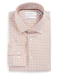 Calibrate | Purple Trim Fit Non-iron Check Stretch Dress Shirt for Men | Lyst