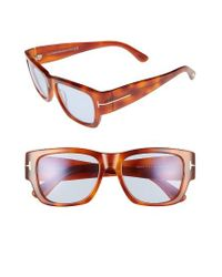 Tom Ford | Multicolor 'stephen' 54mm Retro Sunglasses - Blonde Havana/ Blue | Lyst