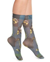Stance - Blue 'black Iris' Socks - Lyst