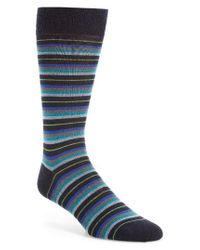 Pantherella   Blue Stanmore Quatro Stripe Socks for Men   Lyst