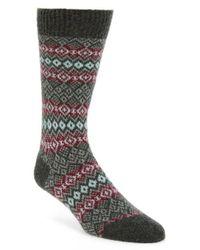 Pantherella - Gray Fenton Fair Isle Cashmere Blend Socks for Men - Lyst