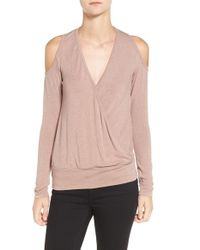 Bailey 44 | Pink 'big Hit' Cold Shoulder Sweater | Lyst
