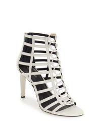 Calvin Klein | White 'nira' Cage Sandal | Lyst