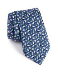 Vineyard Vines | Blue Tequila & Lime Print Silk Tie for Men | Lyst