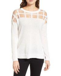 Trouvé | White Sheer Grid Yoke Sweater | Lyst