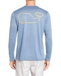 Vineyard Vines | Blue Vintage Logo Long Sleeve Performance T-shirt for Men | Lyst