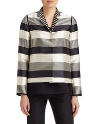 Lafayette 148 New York - Multicolor 'Hollis' Stripe Jacquard Jacket - Lyst