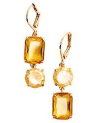Kate Spade | Metallic Kate Spade Shine On Mismatched Drop Earrings | Lyst