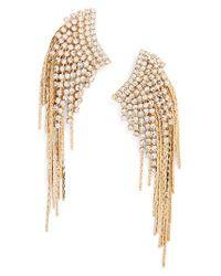 Tasha   Metallic Fringe Duster Earrings   Lyst