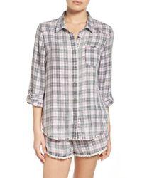 Make + Model   Gray Plaid Pajamas   Lyst
