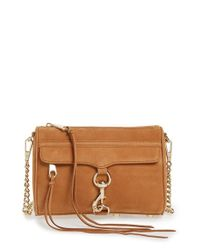 Rebecca Minkoff | Brown 'mini Mac' Convertible Crossbody Bag | Lyst