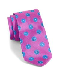 Ted Baker | Pink Medallion Silk Tie for Men | Lyst