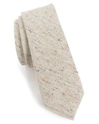 Alexander Olch - White 'the Crisp' Cotton Melange Tie for Men - Lyst