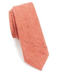 Alexander Olch - Orange 'the Crisp' Cotton Melange Tie for Men - Lyst