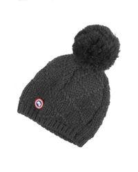 Canada Goose | Gray Pom Merino Wool Beanie | Lyst