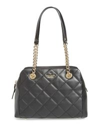 Kate Spade | Black 'emerson Place - Dewy' Quilted Satchel | Lyst