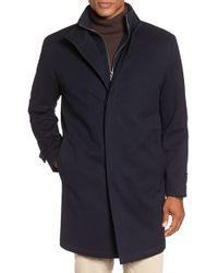 Peter Millar   Blue 'old Sebastian' Wool Overcoat for Men   Lyst