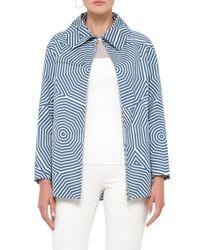 Akris Punto   Blue Sunshade Print Cotton Coat   Lyst