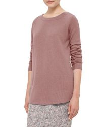 Akris Punto | Pink Contrast Hem Wool & Cashmere Sweater | Lyst