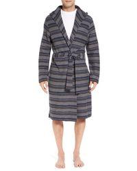 Ugg | Gray Ugg 'miles' Stripe Cotton Robe for Men | Lyst