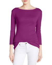 Caslon | Purple Caslon Three Quarter Sleeve Tee | Lyst