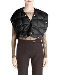 Acne Studios Black Baxter Cropped Down-Filled Shell Vest