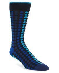 Bugatchi   Blue Dot Socks for Men   Lyst